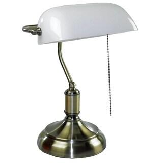 Antique Oil Bronze Bankers Lamp