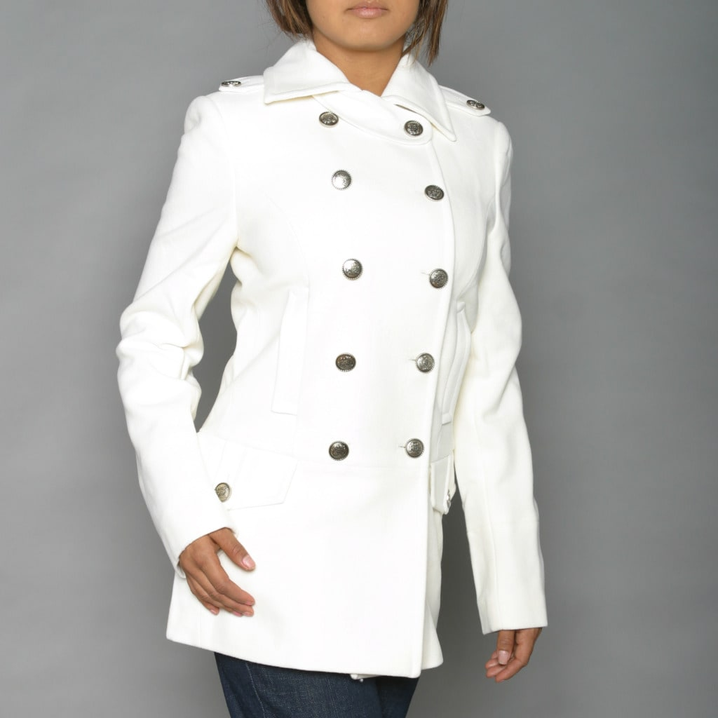 Shop Alpha Industries Women s Winter White Long Wool-blend Peacoat - Free  Shipping Today - Overstock - 6278408 d0a3438e6