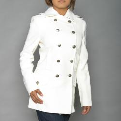 Alpha Industries Women&39s Winter White Long Wool-blend Peacoat