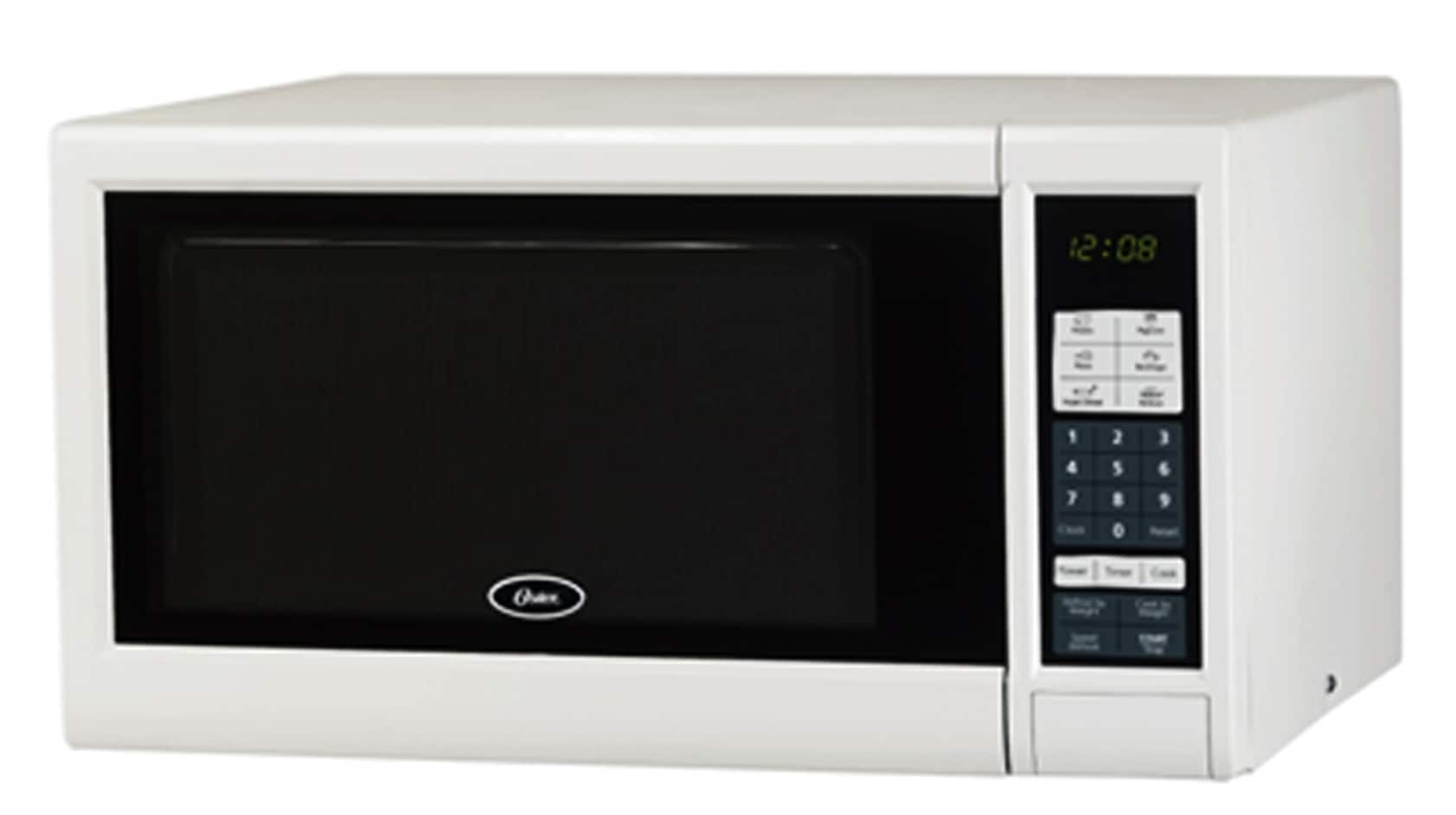 Oster 1.1 Cubic Feet White Digital Microwave Oven