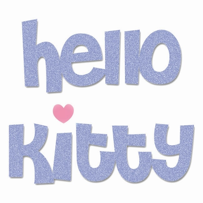 Sizzix Bigz 'Hello Kitty' Phrase Die