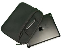 Zippered Black Carrying Case for iPad/ iPad 2/ and the New iPad - Thumbnail 1