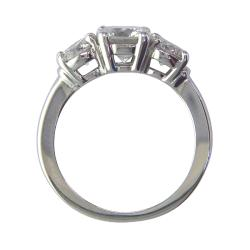 14k White Gold 1 5/8ct TDW Certified Clarity-Enhanced Diamond Ring (F-G, SI1)