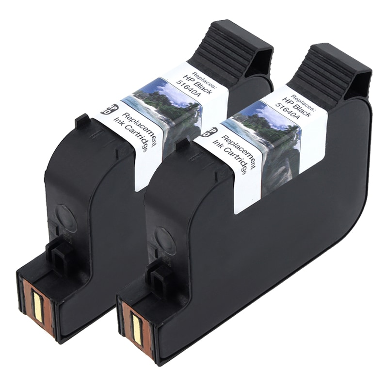 2-pack HP 40 Black Ink 51640A for 330/ 350/ 430/ 450 (Remanufactured)