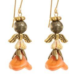 'Shekinah' Angel 14k Gold Fill Earrings
