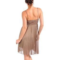 Stanzino Women's Tan Spaghetti Strap Dress