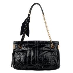Lanvin Black Amalia Leather Crossbody Bag - Thumbnail 2