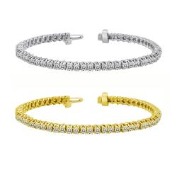 14k Gold 10ct TDW Diamond Tennis Bracelet