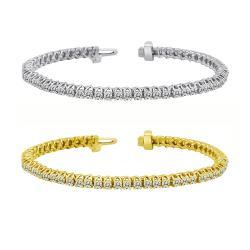 Auriya 14k Gold 6ct TDW Diamond Tennis Bracelet (I-J, I1-I2)