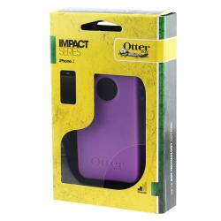 Thumbnail 3, OtterBox Apple iPhone 4/ 4S Purple Impact Case Protector. Changes active main hero.