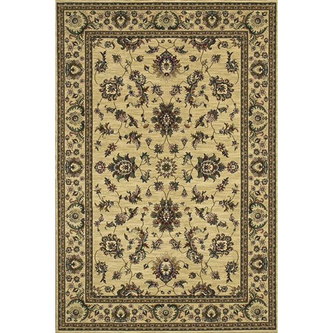 Astoria Ivory/ Green Traditional Area Rug - 10' x 12'7