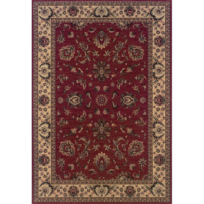 Astoria Red/ Ivory Traditional Area Rug - 10' x 12'7
