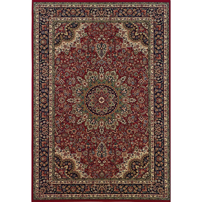 Astoria Red/ Blue Traditional Area Rug (10' x 12'7)