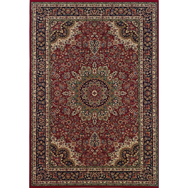 Astoria Red/ Blue Traditional Area Rug - 10' x 12'7