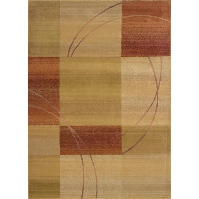 Baldwin Beige/Rust Contemporary Area Rug (9'9 x 12'2) - Thumbnail 0