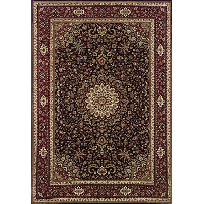 Astoria Brown/ Red Traditional Area Rug - 10' x 12'7