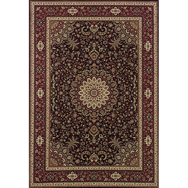 """Astoria Brown/ Red Traditional Area Rug (10' x 12'7) - 10' x 12'7"""""""