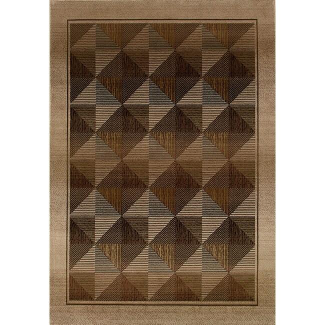 Baldwin Beige/ Green Contemporary Area Rug (9'9 x 12'2)