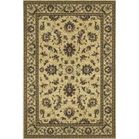 Astoria Ivory/ Green Traditional Area Rug (10' x 12'7) - 10' x 12'7""