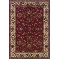 """Astoria Red/ Ivory Traditional Area Rug (10' x 12'7) - 10' x 12'7"""""""