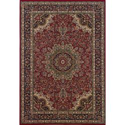 Astoria Red/ Blue Traditional Area Rug - 10' x 12'7 - Thumbnail 0