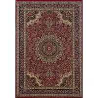"""Astoria Red/ Blue Traditional Area Rug (10' x 12'7) - 10' x 12'7"""""""