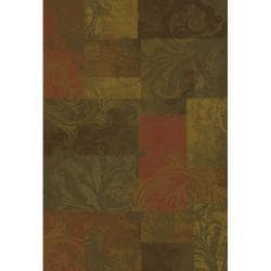 Green/ Red Transitional Area Rug (10' x 13')