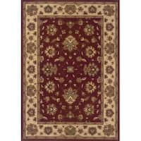 Astoria Red/Ivory Traditional Area Rug - 10' x 12'7