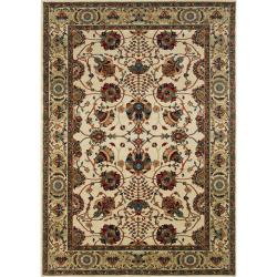 Astoria Ivory/ Red Traditional Area Rug (10' x 12'7) - Thumbnail 0