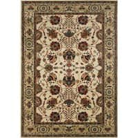 """Astoria Ivory/ Red Traditional Area Rug (10' x 12'7) - 10' x 12'7"""""""