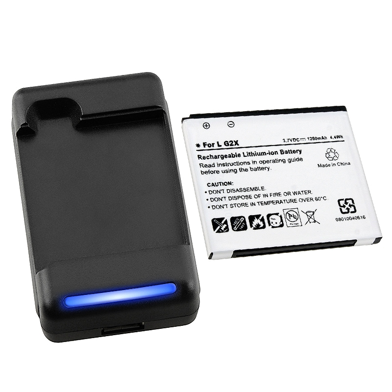 Compatible Battery/ Charger Set for LG G2X