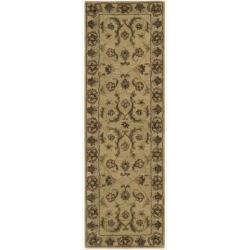 Nourison Hand-tufted Caspian Gold Wool Rug (2'3 x 7'6)
