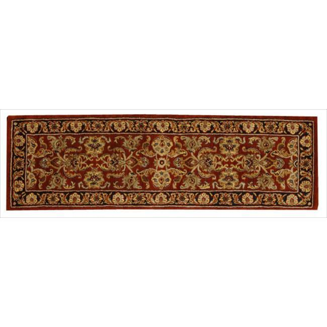 Nourison Hand-tufted Caspian Rust Wool Rug (2'3 x 7'6)