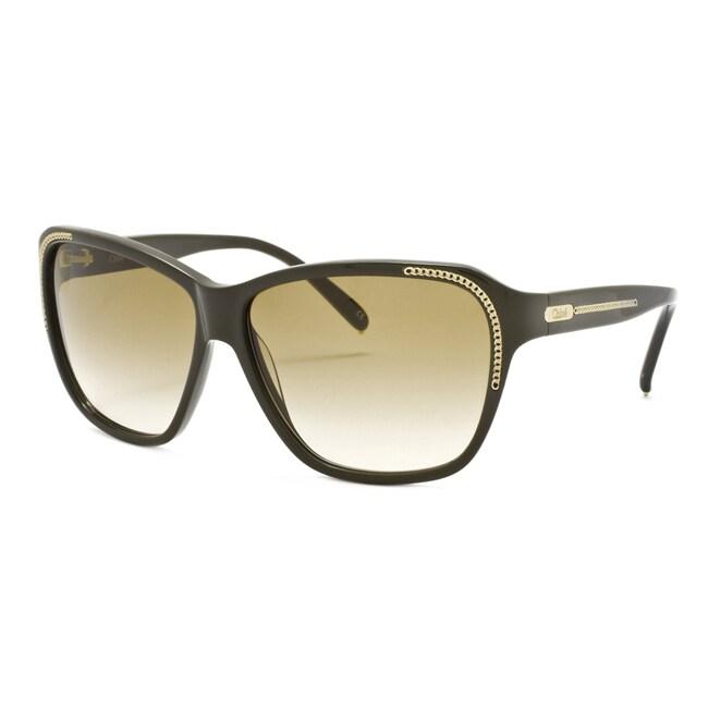Chloe Women's 'Alysse' Olive Fashion Sunglasses