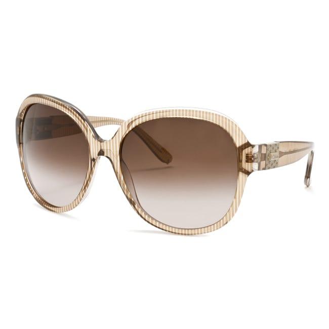 Chloe Women's 'Cirse' Transparent Mocha Fashion Sunglasses