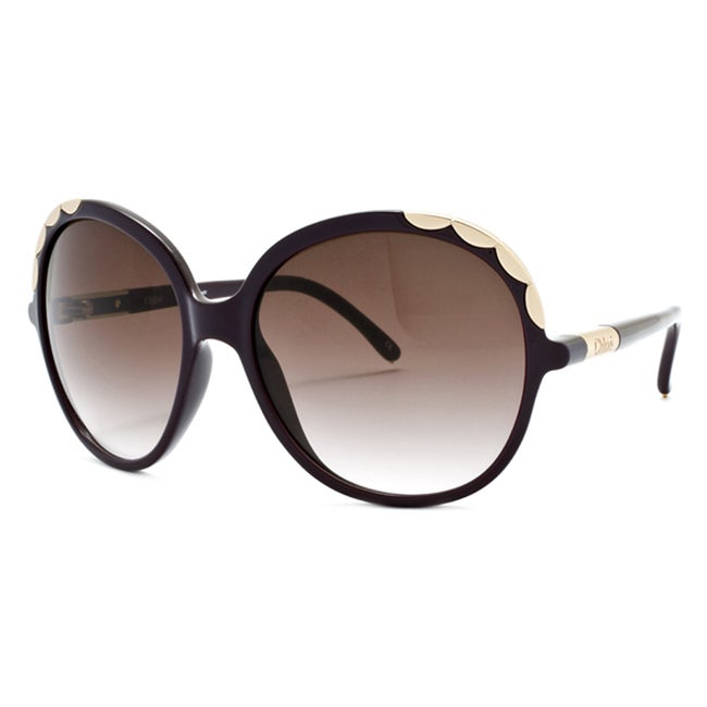 2c5bebd5aba4a Shop Chloe Women s  Ernie  Plum Fashion Sunglasses - Free Shipping Today -  Overstock - 6306898