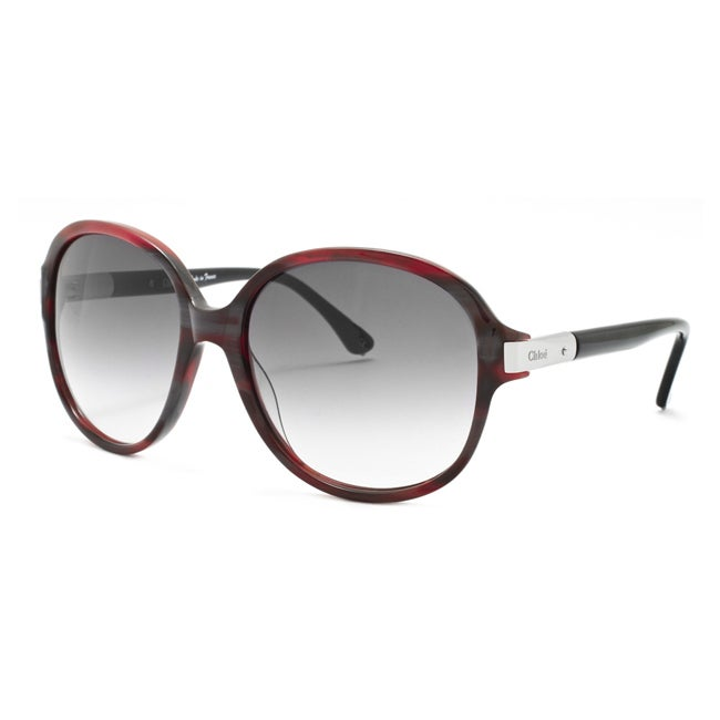 Chloe Women's 'Ammi' Burgundy Horn Fashion Sunglasses