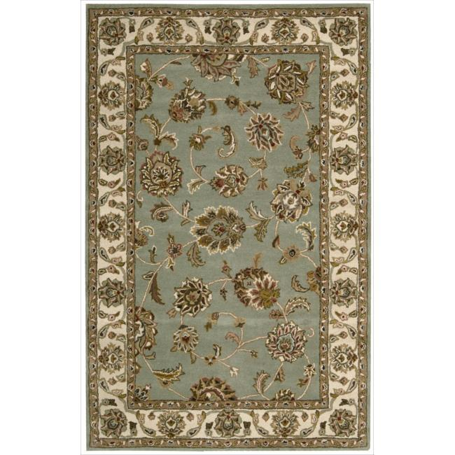 Nourison Hand-tufted Caspian Blue Wool Rug (2'6 x 4')