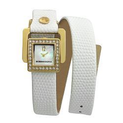 BCBG Maxazria Women's 'Arabasque Doube Wrap' Leather Strap Watch