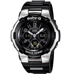 Casio Women's 'Baby-G' Shock Resistant Black/ Silver Sport Watch