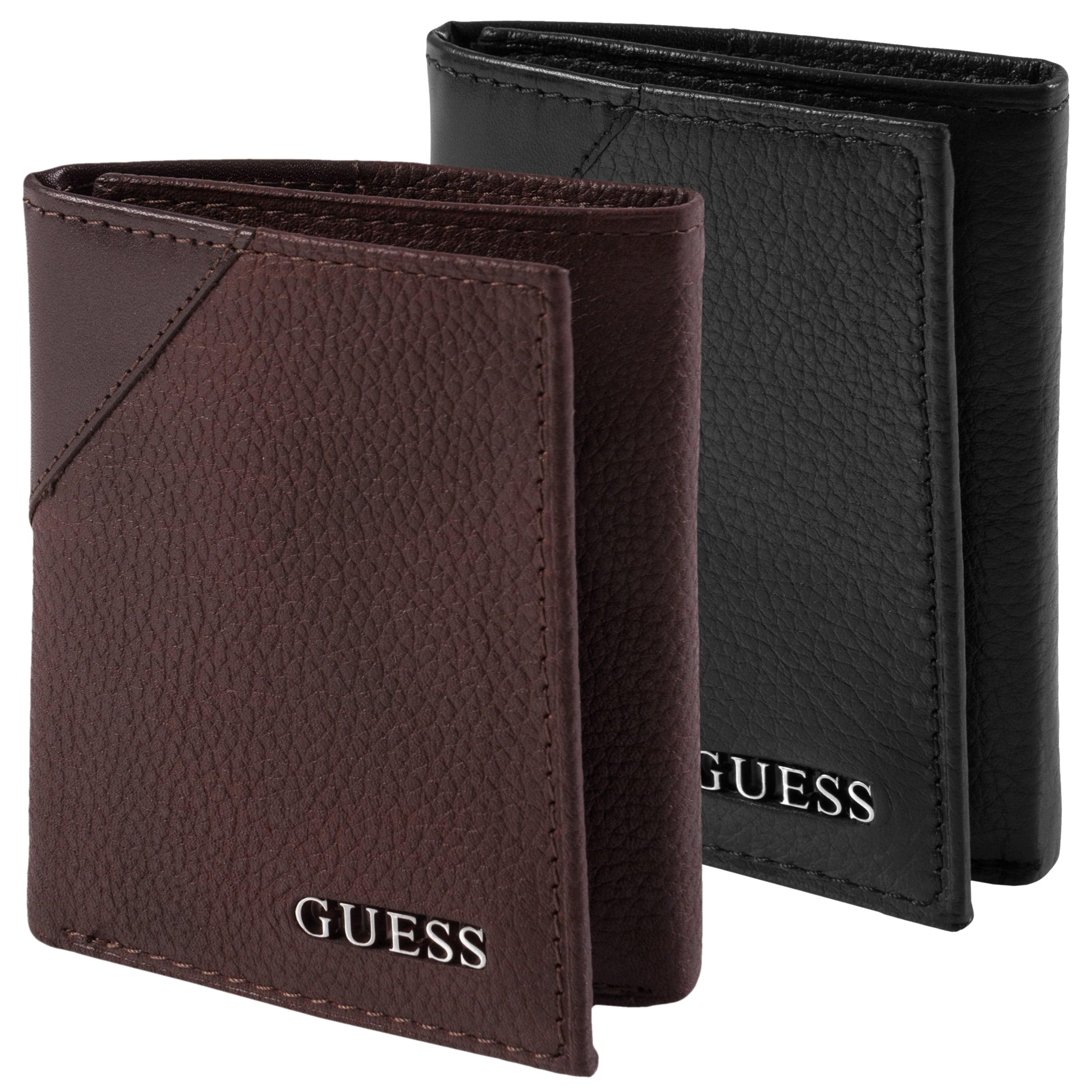 Guess Men's Textured Tri-Fold Passcase Wallet