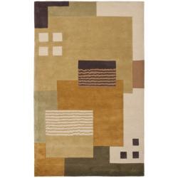 Safavieh Handmade New Zealand Wool Vision Multi Beige Rug (4' x 6')