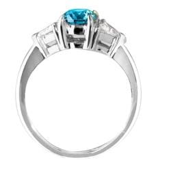 14k White Gold 1 3/4ct TDW Blue and White Diamond Ring (G-H, I1-I2) - Thumbnail 1