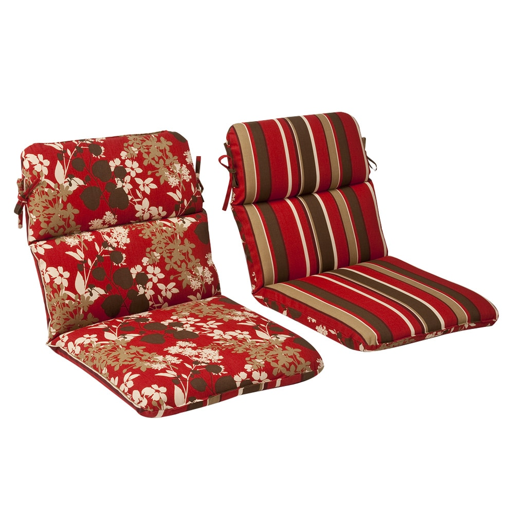 Shop Pillow Perfect Outdoor Red/ Brown Reversible Chair