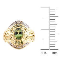 Michael Valitutti 14k Gold Tashmarine and 1/6ct TDW Diamond Ring (I-J, I1-I2)