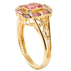 Michael Valitutti 14k Gold Multi-gemstone and Diamond Accent Ring - Thumbnail 1