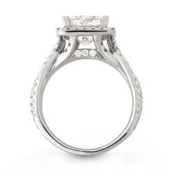 Montebello 14k White Gold 4 2/5ct TDW Princess-cut Diamond Engagement Ring (H, I1)