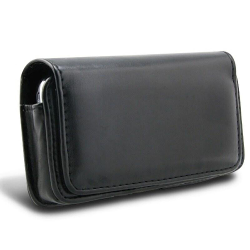 Black Leather Case for LG Vortex VS660/ P509 Optimus T
