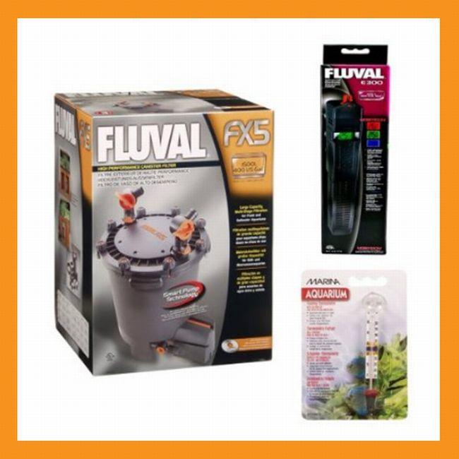 Fluval FX5 Aquarium Filter With E 300 Heater Kit