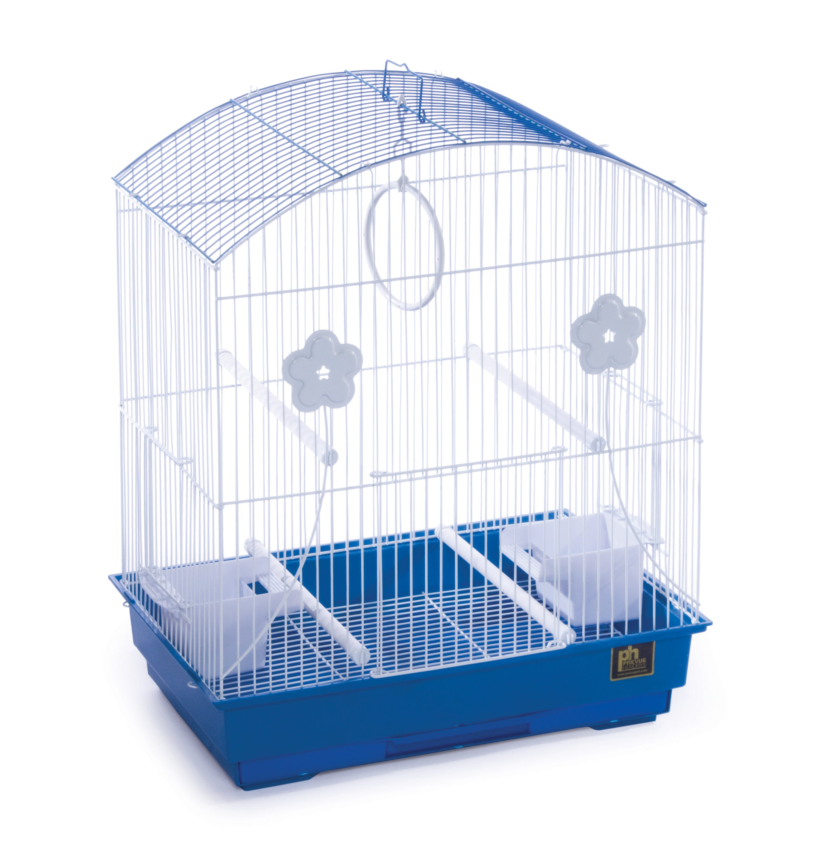 Prevue Pet Products Round Roof Parakeet Cage White Amp Blue